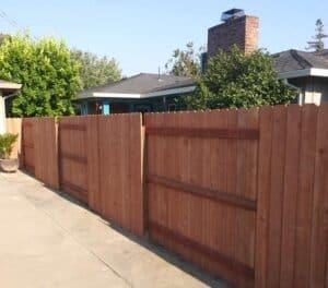 wood fence, Bates Fencing, Elk Grove